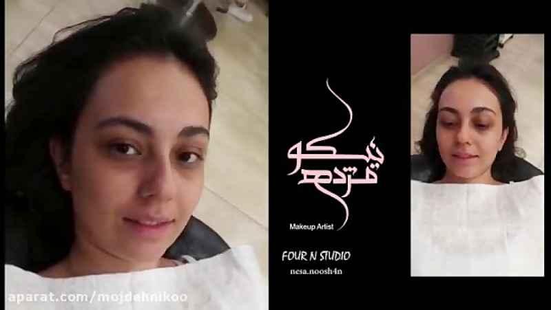 آرایش صورت توسط مژده نیکو - آرایش چشم و میکاپ کامل