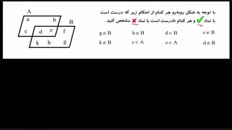 آموزش ریاضی نهم - فصل اول ( مجموعه ها ) - درسنامه سوم