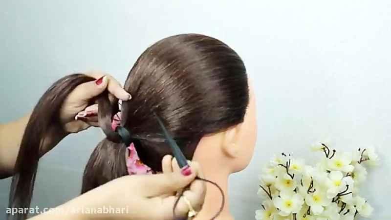 آموزش بافت مو و شینیون عروس 3