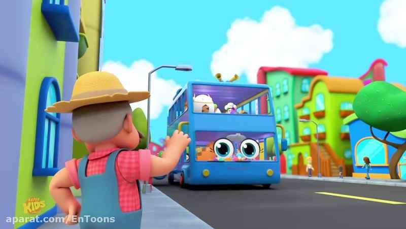 کارتون زبان انگلیسی Wheels On The Bus Go Round And Round