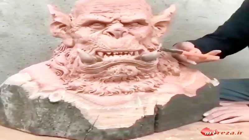 ساخت مجسمه و پیکرتراشی با چوب