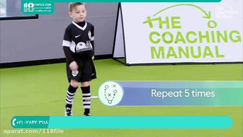 آموزش فوتبال به کودکان   فوتبال مبتدی   یادگیری فوتبال (کنترل توپ و پاس کاری)