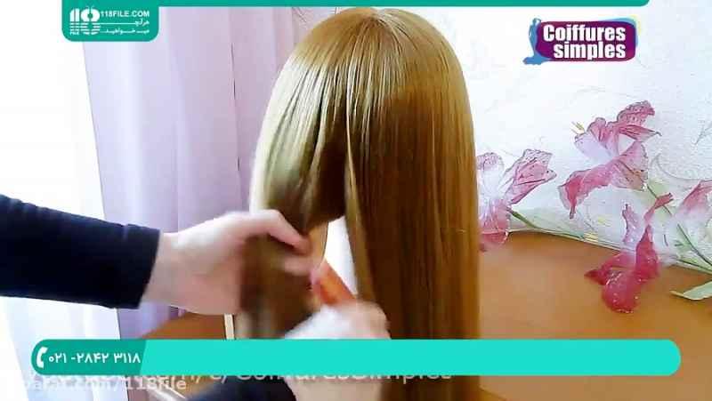 آموزش شینیون مو | شینیون مو ساده و خطی|شینیون مو کوتاه و بلند(شینیون با بافت مو)