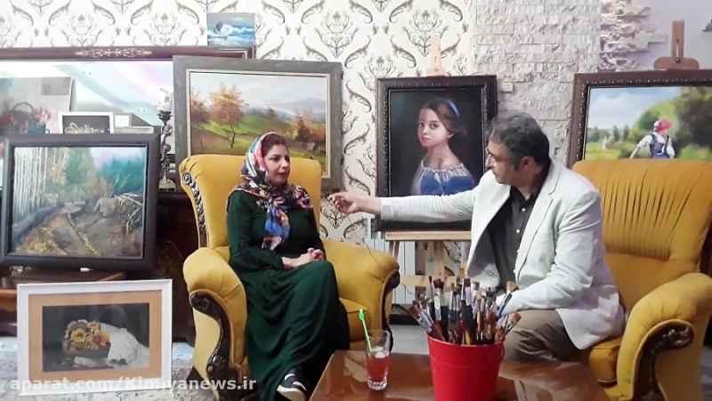کافه خبروگپ وگفت با سعیده مرادی جوهنرمندمعاصر (2)