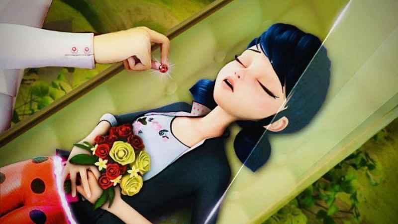مراسم خاکسپاری مرینت (دختر کفشدوزکی) در امیشین میراکس لیدی باگ