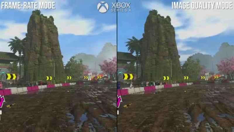 نمایشی از اجرای Dirt 5 روی Xbox Series X