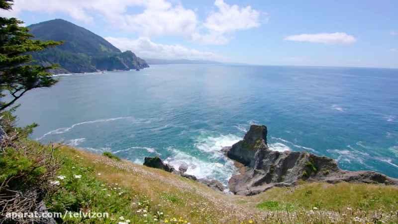 پنج ساعت ویدیوی آرامش بخش از اقیانوس آرام | (ریلکسیشن در طبیعت 165)