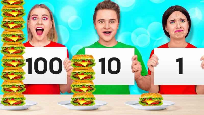 32 دقیقه چالش خوراکیهای یواشکی در همه جا