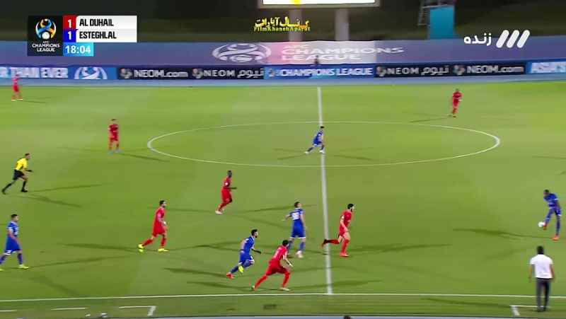 مسابقه کامل فوتبال - استقلال و الدحیل قطر - 1 اردیبهشت 1400