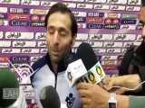 صحبت های جابر انصاری بازیکن پیکان بعد از پیروزی مقابل سایپا