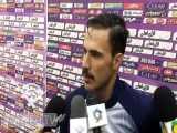 صحبت های مهران موسوی بازیکن پیکان بعد از پیروزی مقابل سایپا