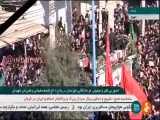 ورود خودرو حامل پیکر سردار شهید قاسم سلیمانی و همرزمانش به میان سیل عظیم مردم انقلابی خوزستان
