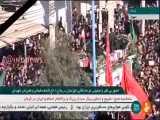 ورود خودرو حامل پیکر سردار شهید قاسم سلیمانی و همرزمانش به میان مردم انقلابی خوزستان