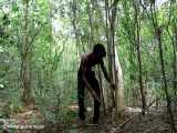 ساخت سرپناه با گیاهان وحشی در جنگل! (تکنیک زندگی ۱)
