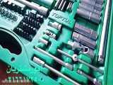 جعبه ابزار سبز ۱۵۰ پارچه پلاستیکی (سبز) تاپ تول – TOPTUL
