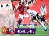 خلاصه بازی منچستریونایتد 3 - شفیلد یونایتد 0 از هفته 31 لیگ برتر انگلیس