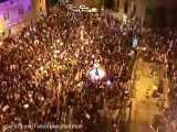 تجمع هزاران معترض در تظاهرات علیه نتانیاهو در میدان پاریس در قدس اشغالی