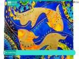 آموزش نقاشی روی شیشه   ویترای روی شیشه   هنر ویترای ( نقاشی جذاب ماهی روی طلق )