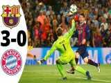 هایلایت بازی بارسلونا 3-0 بایرن مونیخ ( لیگ قهرمانان 2014/15 )