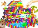 توپ های مغناطیسی :: خانه ویلایی بزرگ دارای چرخ آب و استخر برای همستر