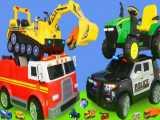ماشین بازی کودکانه : کامیون آتش نشانی،بیل مکانیکی،تراکتور،قطار، ماشین پلیس