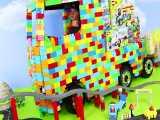 اسباب بازی لگو کامیون ساخته شده با لگو و بقیه اسباب بازی های زیبای لگو