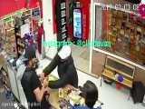 درگیری بین سارق و فروشنده در فروشگاه موبایل