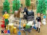 ماشین بازی - اسباب بازی کودکانه - حمل و نقل حیوانات با ماشین اسباب بازی