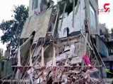 ریزش وحشتناک ساختمان در فلاح تهران / چند نفر زیر آوار دفن شدند