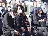 مراسم خاکسپاری استاد محمدرضا شجریان و صحبت های همایون شجریان