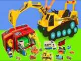 قطار ، کامیون زباله ، ماشین بیل مکانیکی ، کامیون آتش نشانی پلیس و تراکتور
