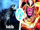 شکست سخت تانوس در برابر گودزیلا !