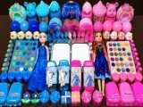 مخلوط کردن اسلایم ها - اسلایم آنا و السا - بازی با اسلایم