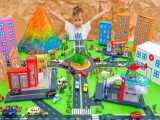 ولاد و نیکی : بازی با ماشینهای اسباب بازی و ساخت شهر اسباب بازی