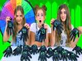 چالش اسلایم دستکشی 3 خواهر