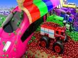 کارتون ماشین بازی:: ماشین و توپ های رنگی:: ماشین بازی جدید